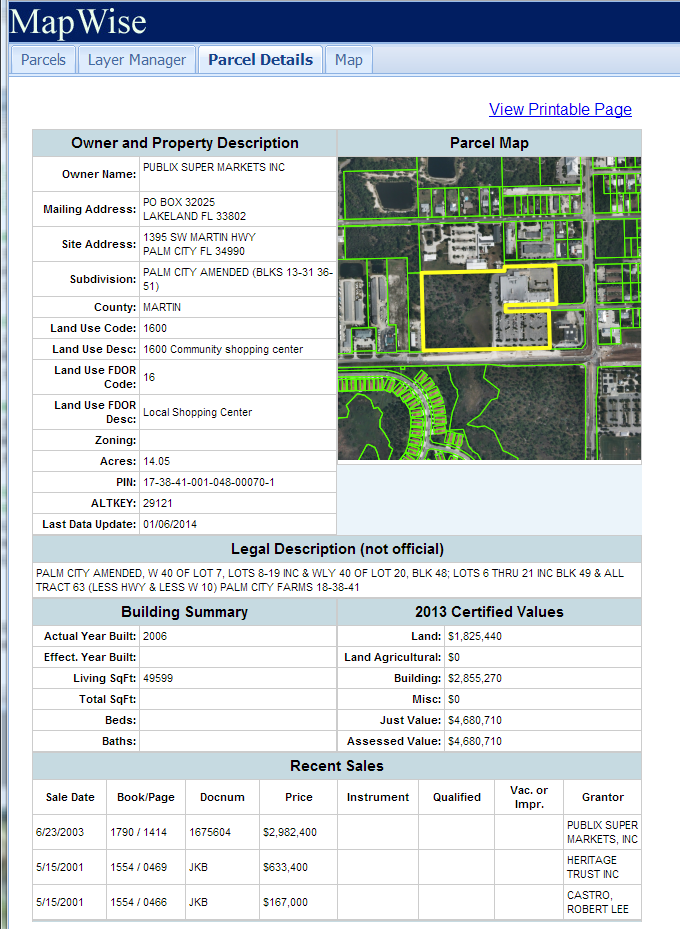 State Of Florida Property Tax Information